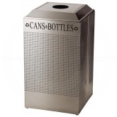 Rubbermaid FGDCR24CSS Silhouette Recycling Receptacle - Cans and Bottles - 29 Gallon Capacity - Stainless Steel in Color