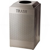 Rubbermaid FGDCR24TSS Silhouette Recycling Receptacle - Trash - 29 Gallon Capacity - Stainless Steel in Color