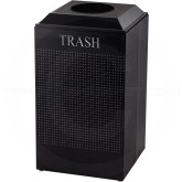 Rubbermaid FGDCR24TTBK Silhouette Recycling Receptacle - Trash - 29 Gallon Capacity - Textured Black in Color