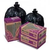 Pitt Plastics DJ37K Deja Vu Black Recycled - 30 x 36 - 20-30 Gallon Capacity - Extra Extra Heavy Duty - 1.2 Mil - 250 per case - Flat Pack