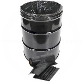 Napco Bag DL386318B 38 x 63 Drum Liners - 50 bags per roll - 1 roll per case - 1.8 Mil - Black in Color