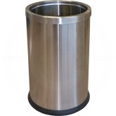 "Imprezza DSWB25SS Round Wastebasket with Ring - 2 1/2 Gallon Capacity - 7 3/4"" Dia. x 12"" H - Stainless Steel"
