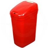 "Nine Stars DZT-27-1 Infrared Touchless Waste Receptacle - 7.1 Gallon Capacity - 14 3/5"" L x 10 2/5"" W x 23 1/3"" H - Red in Color"