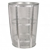 "Rubbermaid / United Receptacle SBR52 Galvanized Mesh Street Basket - 48 Gallon Capacity - 24"" Top Dia. x 33"" H"