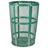 "Witt Industries EXP-52GN Powder Coated Steel Mesh Street Basket - 48 U.S Gallon - 23"" Dia. x 33"" H - Green in Color"