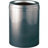 "Glaro F2037GC Value Funnel Top Garbage Can  - 41 Gallon Capacity - 20"" Dia. x 31"" H - Gloss Chrome"