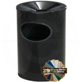 "Glaro F812 Funnel Top Wall Mounted Ash/Trash Cigarette Receptacle - 8"" Dia. x 12"" H - Your choice of color"