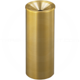 "Glaro F923BE Atlantis WasteMaster Funnel Top Cover Urn - 9"" Dia. x 23"" H - All-Weather Satin Brass"