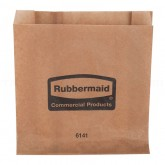 "Rubbermaid FG6141 Waxed Bags for the Sanitary Napkin Receptacles - 250 Per Case - 8 3/4"" L x 2 3/4"" W x 8 1/2"" H"