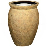 "Rubbermaid / United Receptacle FGFGK1924SUSAH Milan Collection Pescara Fiberglass Sand-Top Ash Urn - 18 1/2"" Dia. x 24"" H - Sahara in color"