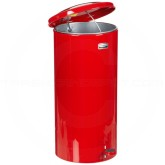 "Rubbermaid FGST5ERD 5 Gallon Round Step Can - 11"" Dia. x 22"" H - Red in Color"