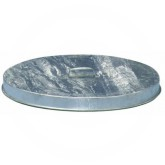 "Witt Industries FT256G Galvanized Metal Flat Drum Top Lid - 23 3/4"" Dia. x 2"" H - 1 pack of 6"