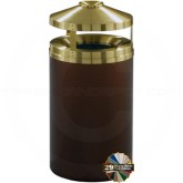 "Glaro H2002 Canopy Top WasteMaster Ash/Trash Can - 33 Gallon Capacity - 20"" Dia. x 42"" H - Your choice of color"