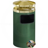 "Glaro H2003 Canopy Top WasteMaster Waste Can with Sand Tray - 17 Gallon Capacity - 20"" Dia. x 42"" H - Your choice of color"
