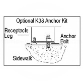 Rubbermaid / United Receptacle FGKR38 Anchoring Kit for the R36, R38, R48, A17 and A38 Receptacles