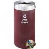 "Glaro M1532 Recycle Pro 1 Receptacle with Multi-Purpose Opening - 16 Gallon Capacity - 15"" Dia. x 31"" H - Your choice of color"
