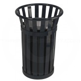 "Witt Industries M2000-BK Oakley Collection Outdoor Slatted Ash Urn - 17""dia x 26"" H - Black in Color"