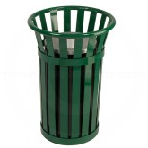 "Witt Industries M2000-GN Oakley Collection Outdoor Slatted Ash Urn - 17"" Dia. x 26"" H - Green in Color"