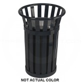 "Witt Industries M2000-SLV Oakley Collection Outdoor Slatted Ash Urn - 17"" Dia. x 26"" H - Silver in Color"
