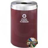 "Glaro M2032 Recycle Pro 1 Receptacle with Multi-Purpose Opening - 33 Gallon Capacity - 20"" Dia. x 31"" H - Your choice of color"