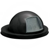 "Witt Industries M3601-DTL-BK Dome Top Lid - 23 1/2"" Dia. x 11 5/8"" H - Black in Color"