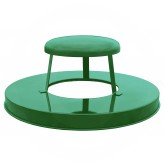 "Witt Industries M3601-RCL-GN Rain Cap Lid - 23 1/2"" Dia. x 11 5/8"" H - Green in Color"