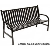 "Witt Industries M5-BCH-SLV Oakley Collection Slatted Metal Bench - 60"" W x 24"" D x 34"" H - Silver in Color"