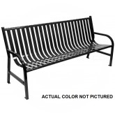 "Witt Industries M6-BCH-SLV Oakley Collection Slatted Metal Bench - 72"" W x 24"" D x 34"" H - Silver in Color"