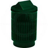 "Witt Industries MAS40P-SWT-GN Mason Collection Trash Can with Swing Top Lid - 40 Gallon Capacity - 24"" Dia. x 44"" H - Green in Color"