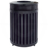 "Rubbermaid MH46 Avenue Series Large Open Top Trash Can - 46 Gallon Capacity - 24 1/2"" Dia. x 33 1/2"" H - Disposal Opening is 12"" Dia."