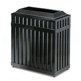 "Rubbermaid MHR36 Avenue Series Rectangular Open Top Trash Can - 36 Gallon Capacity - 16"" W x 29 1/2"" L  x 32 1/2"" H - Disposal Opening is 21 1/2"" L x 8"" W"