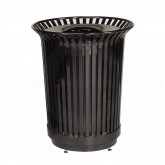 "Rubbermaid MI36 Americana Series Waste Receptacle - 36 Gallon Capacity - 29"" Dia. x 34"" H - Disposal Opening is 11"" Dia."