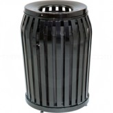 "Rubbermaid MSD36 Side Door Americana Series Trash Can - 36 Gallon Capacity - 25"" Dia. x 32 1/2"" H - Disposal Opening is 11"" Dia."