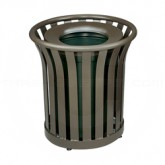 "Rubbermaid MT22 Americana Series Litter Receptacle - 24 Gallon Capacity - 25 1/2"" Dia. x 25 1/2"" H - Disposal Opening is 11 1/2"" Dia."