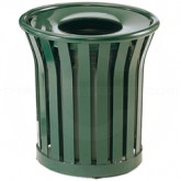 "Rubbermaid MT32 Americana Series Garbage Can - 36 Gallon Capacity - 29"" Dia. x 32 1/2"" H - Disposal Opening is 12"" Dia."