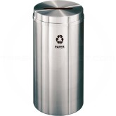 "Glaro P1532SA Recycle Pro 1 Paper Recycling Bin - 16 Gallon Capacity - 15"" Dia. x 31"" H - Satin Aluminum"