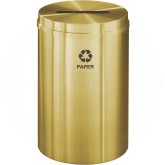 "Glaro P2032BE Recycle Pro 1 Paper Recycling Container - 33 Gallon Capacity - 20"" Dia. x 31"" H - Satin Brass"