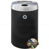 "Glaro PC2032 Recycle Pro 2 Recycling Can with Paper Slot and Round Opening - 33 Gallon Capacity - 20"" Dia. x 31"" H - Your choice of color"