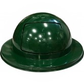 "Imprezza PDDT55GR 55 Gallon Drum Dome Lid - 24 1/2"" Dia. x 11 1/2"" H - Dark Green in Color"