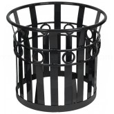 "Witt Industries PL2724-BK Oakley Collection Decorative Planter - 27 1/4"" Dia. x 24"" H - Black in Color"