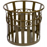 "Witt Industries PL2724-BN Oakley Collection Decorative Planter - 27 1/4"" Dia. x 24"" H - Brown in Color"