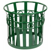 "Witt Industries PL2724-GN Oakley Collection Decorative Planter - 27 1/4"" Dia. x 24"" H - Green in Color"