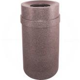 """Imprezza PRFT35CBL Carrara Funnel Top Trash Can - 35 Gallon Capacity - 20 7/8"""" Dia. x 34 1/2"""" H - Cobblestone in Color"""