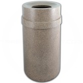 "Imprezza PRFT35RVRSTN Carrara Funnel Top Trash Can - 35 Gallon Capacity - 20 7/8"" Dia. x 34 1/2"" H - Riverstone in Color"