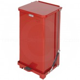 "Rubbermaid FGQST12ERD Square Quiet Close Step On Trash Can - 12 Gallon Capacity - 12"" Sq. x 23"" H - Red in Color"