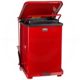 "Rubbermaid FGQST40ERD Quiet Close Square Step Can - 40 Gallon Capacity - 19"" Sq. x 30"" H - Red in Color"