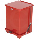 """Rubbermaid FGQST7ERD Square Quiet Close Step On Trash Can - 7 Gallon Capacity - 12"""" Sq. x 17"""" H - Red in Color"""