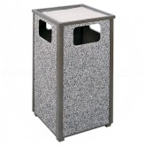 "Rubbermaid / United Receptacle R18SU Aspen Series Ash/Trash Waste Receptacle - 18 Gallon Capacity - 18"" Sq. x 32"" H - Large Image"