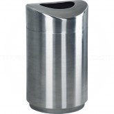 "Rubbermaid FGR2030SSPL Designer Line Eclipse Trash Can - 30 Gallon Capacity - 20"" Dia. x 35 1/2"" H - Stainless Steel"