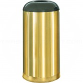 "Rubbermaid FGR32SBSGL Econo Line Open Dome Top Waste Receptacle - 15 Gallon Capacity - 15"" Dia. x 32"" H - Satin Brass in Color"